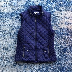 NWT Francesca's Navy Blue Quilted Vest